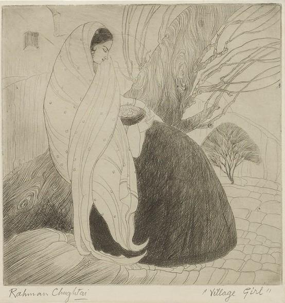 Abdur Rahman Chughtai, Village Girl