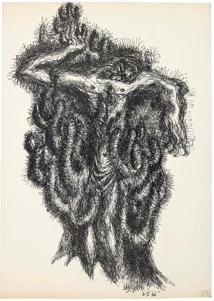 Syed Sadequain, After the Crucifixion I, 1966
