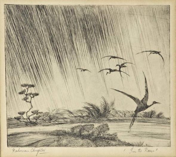 Abdur Rahman Chughtai, In the Rain