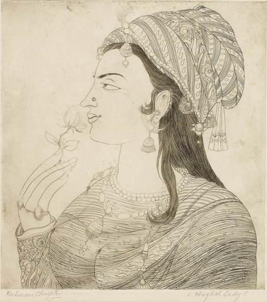 Abdur Rahman Chughtai, Mughal Lady