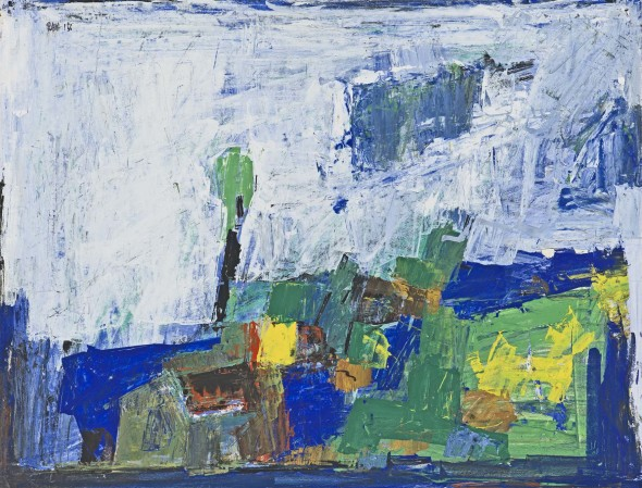 Sayed Haider Raza, Untitled (Paysage), 1956
