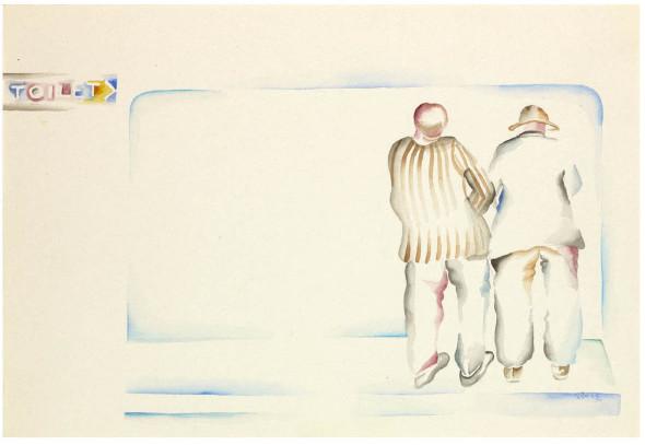 Bhupen Khakhar, Two Men in a Toilet, 1979