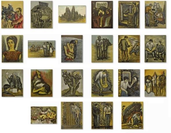 Syed Sadequain, Illustrations for L'Etranger, 1966