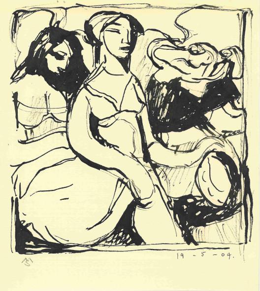 Mark Shields, Study for the Women of Izvor, 2004