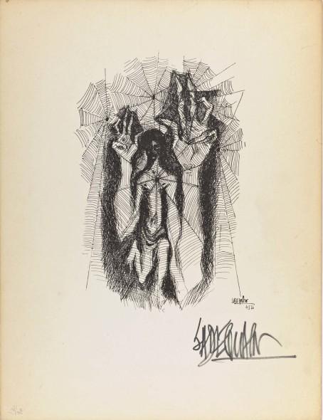Syed Sadequain, The Webbed VI, c.1966