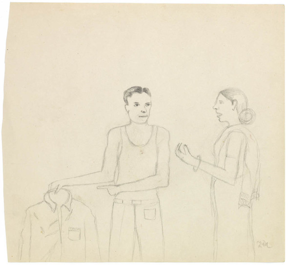 Bhupen Khakhar, In the Tailor's Shop