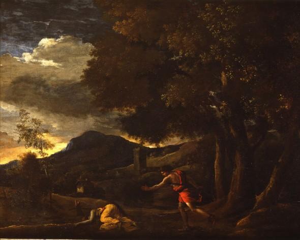 "<span class=""artist""><strong>Nicolas Poussin</strong></span>, <span class=""title""><em>The Death Of Eurydice</em>, 1626</span>"