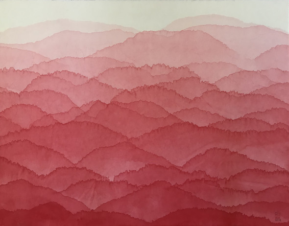 "<span class=""artist""><strong>Minjung Kim</strong></span>, <span class=""title""><em>Red Mountain</em>, 2018</span>"