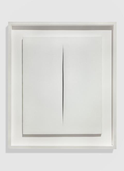 "<span class=""artist""><strong>Lucio Fontana</strong></span>, <span class=""title""><em>Concetto Spaziale. Attesa</em>, 1966</span>"