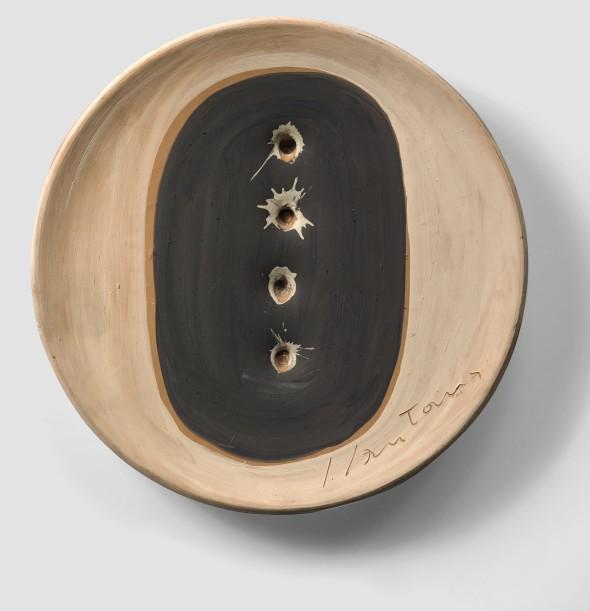 "<span class=""artist""><strong>Lucio Fontana</strong></span>, <span class=""title""><em>Concetto Spaziale</em>, 1953-55</span>"
