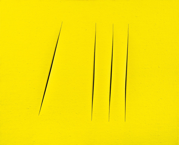<span class=&#34;artist&#34;><strong>Lucio Fontana</strong></span>, <span class=&#34;title&#34;><em>Concetto spaziale. Attese</em>, 1965 - 66</span>