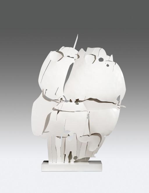 """<span class=""""artist""""><strong>Pietro Consagra</strong></span>, <span class=""""title""""><em>Ferro Transparente Bianco V</em>, 1966</span>"""