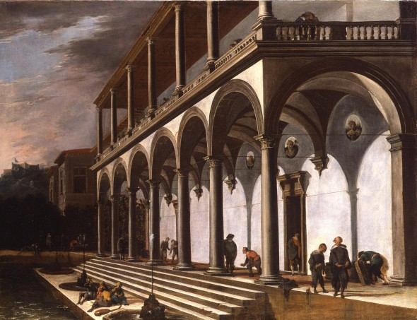 "<span class=""artist""><strong>Viviano Codazzi and Figures by Domenico Gargullo</strong></span>, <span class=""title""><em>A View of the Villa Poggioreale, Naples</em>, 1642/3</span>"