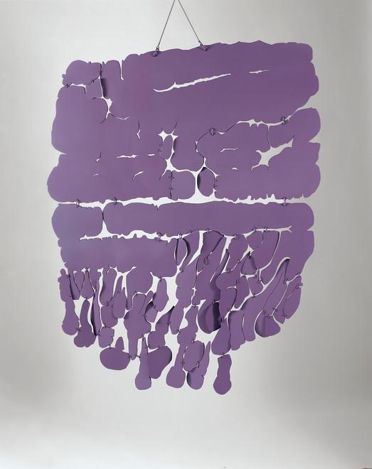"<span class=""artist""><strong>Pietro Consagra</strong></span>, <span class=""title""><em>Piano sospeso viola</em>, 1965</span>"