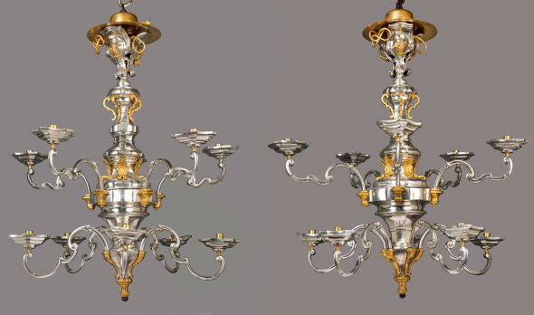 "<span class=""title""><em>THE MARCELLO PAPINIANO CUSANI SILVER CHANDELIERS</em>, between June and December 1758</span>"