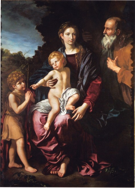 "<span class=""artist""><strong>Bartolomeo Cavarozzi</strong></span>, <span class=""title""><em>Holy Family with the Young Saint John</em>, ca. 1620</span>"