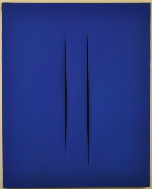 "<span class=""artist""><strong>Lucio Fontana</strong></span>, <span class=""title""><em>Concetto Spaziale, Attese</em>, 1968</span>"