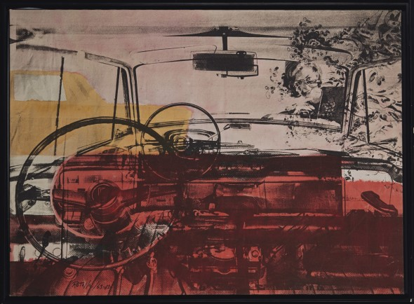"""<span class=""""artist""""><strong>Mimmo Rotella</strong></span>, <span class=""""title""""><em>Posso?</em>, 1963-1965</span>"""
