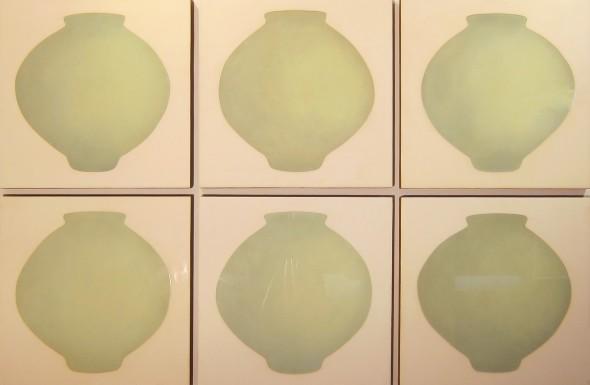 "<span class=""artist""><strong>Ik-Joong Kang</strong></span>, <span class=""title""><em>6 Moon Jars</em>, 2014</span>"