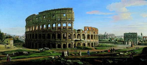 """<span class=""""artist""""><strong>Gaspar Van Wittel, Called Vanvitelli</strong></span>, <span class=""""title""""><em>View of the Colosseum and Arch of Constantine from the East</em></span>"""