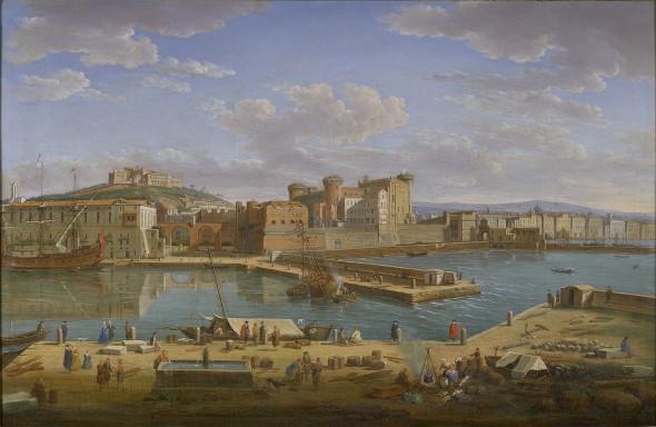 "<span class=""artist""><strong>Hendrik Frans van Lint</strong></span>, <span class=""title""><em>Naples, Darsena</em>, 1734</span>"