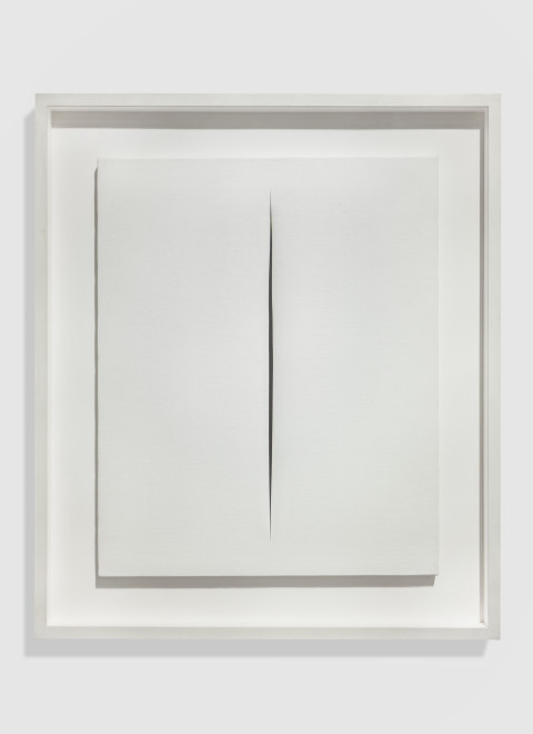 "<span class=""artist""><strong>Lucio Fontana</strong></span>, <span class=""title""><em>Concetto Spaziale, Attesa</em>, 1966</span>"