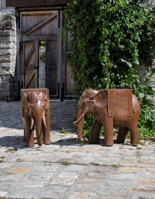 """<span class=""""artist""""><strong>Francois-Xavier Lalanne</strong></span>, <span class=""""title""""><em>Paire de Guéridons Eléphants de Pauline</em>, 2004</span>"""