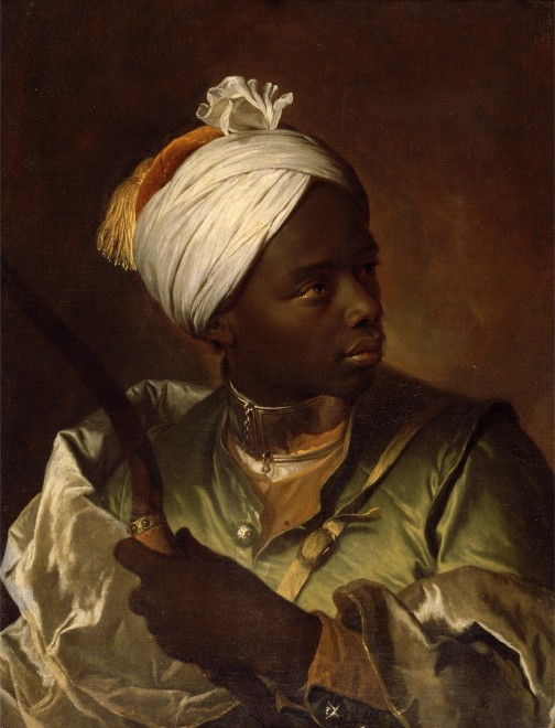 "<span class=""artist""><strong>Hyacinthe Rigaud</strong></span>, <span class=""title""><em>Young Negro with a Bow</em>, ca. 1697</span>"