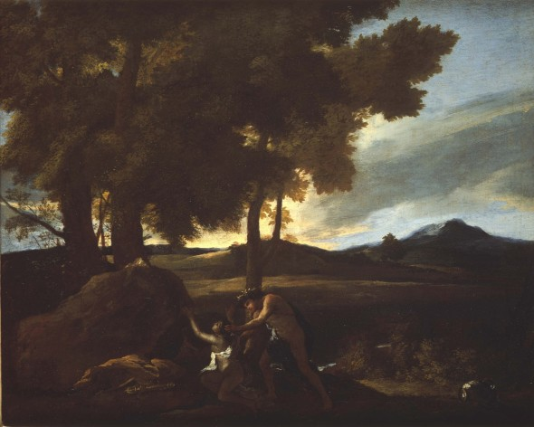 "<span class=""artist""><strong>Nicolas Poussin</strong></span>, <span class=""title""><em>Apollo and Daphne</em>, 1626</span>"