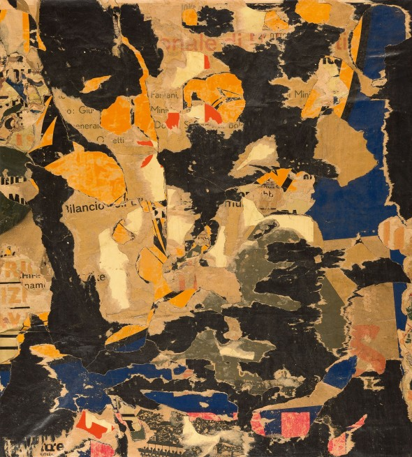 """<span class=""""artist""""><strong>Mimmo Rotella</strong></span>, <span class=""""title""""><em>Senza titolo</em>, c. 1960</span>"""