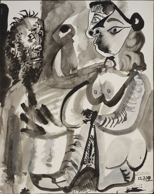 """<span class=""""artist""""><strong>Pablo Picasso</strong></span>, <span class=""""title"""">Untitled, 1972</span>"""