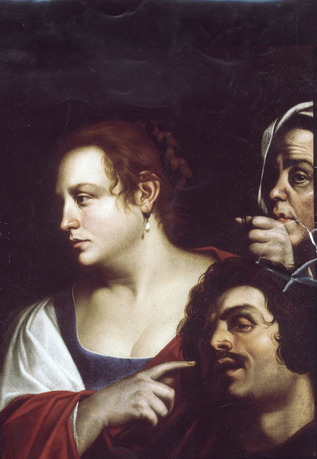 """<span class=""""artist""""><strong>Attributed to Artemisia Gentileschi</strong></span>, <span class=""""title""""><em>Judith with Holofernes head</em></span>"""