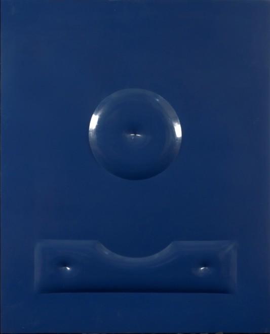 "<span class=""artist""><strong>Agostino Bonalumi</strong></span>, <span class=""title""><em>Blu</em>, 1965</span>"