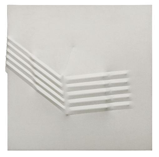 "<span class=""artist""><strong>Agostino Bonalumi</strong></span>, <span class=""title""><em>Bianco</em>, 1973</span>"
