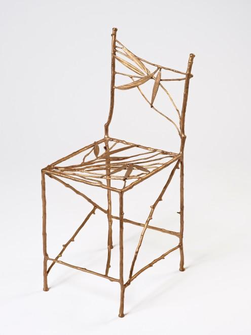 "<span class=""artist""><strong>Claude Lalanne</strong></span>, <span class=""title""><em>Chaise Feuilles Bambou (Gauche)</em>, 2010/2011</span>"