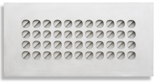 "<span class=""artist""><strong>Paolo Scheggi</strong></span>, <span class=""title""><em>Intersuperficie curva bianca</em>, 1966</span>"