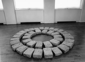 "<span class=""artist""><strong>Richard Long</strong></span>, <span class=""title""><em>Soho Circles</em>, 1989</span>"