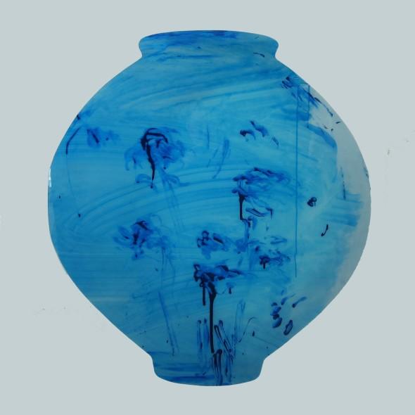 "<span class=""artist""><strong>Ik-Joong Kang</strong></span>, <span class=""title""><em>Blue Moon Jar</em>, 2016</span>"