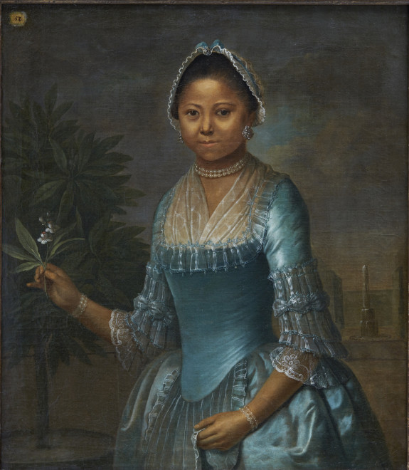 Unknown, Portrait of a Lady with an Orange Blossom, mid 1700s