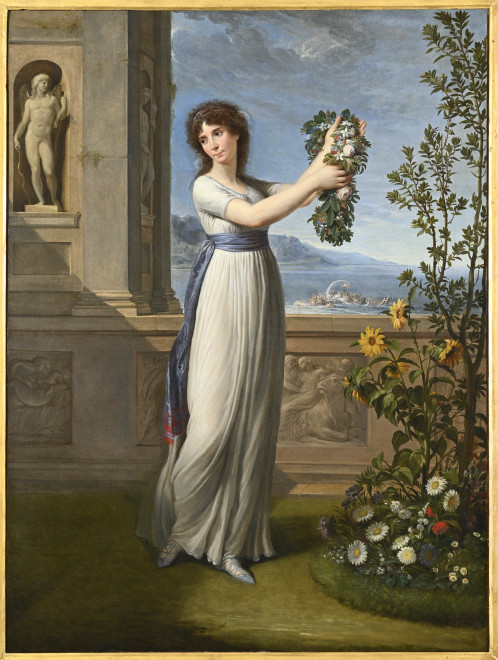 """<span class=""""artist""""><strong>Andrea Appiani</strong></span>, <span class=""""title""""><em>Josephine Bonaparte Crowning a Myrtle Tree</em>, 1796</span>"""