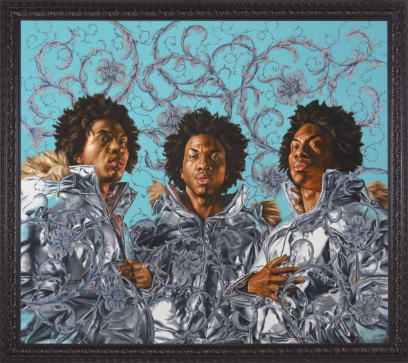 "<span class=""artist""><strong>Kehinde Wiley</strong></span>, <span class=""title""><em>Triple Portrait of Charles II</em>, 2008</span>"