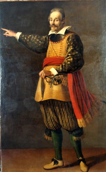 """<span class=""""artist""""><strong>Valore Casini</strong></span>, <span class=""""title""""><em>Portrait of the actor Francesco Andreini</em>, c. 1623</span>"""
