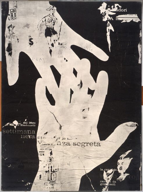 "<span class=""artist""><strong>Mimmo Rotella</strong></span>, <span class=""title""><em>Violenza Segreta</em>, 1963</span>"