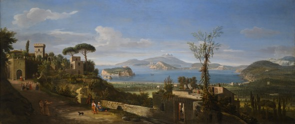 """<span class=""""artist""""><strong>Gaspar Van Wittel, Called Vanvitelli</strong></span>, <span class=""""title""""><em>A View of the Bay of Pozzuoli, near Naples, taken from the east, looking towards the port of Baia, with the Islands of Nisida Procida and Ischia</em></span>"""