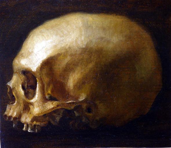 "<span class=""artist""><strong>Ubaldo Gandolfi</strong></span>, <span class=""title""><em>A skull</em></span>"