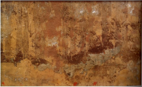 """<span class=""""artist""""><strong>Mimmo Rotella</strong></span>, <span class=""""title""""><em>Materia 5</em>, 1956</span>"""