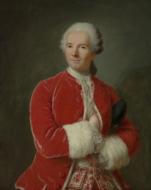 """<span class=""""artist""""><strong>Marianne Loir</strong></span>, <span class=""""title""""><em>Portrait of Monsieur de Fontaine</em>, c. 1760</span>"""