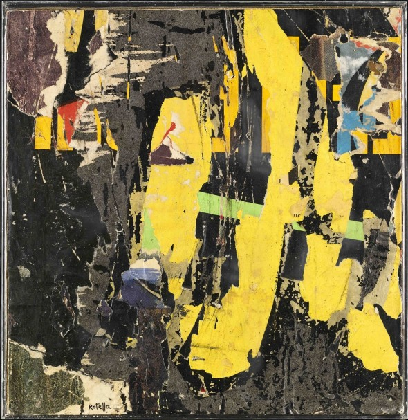 """<span class=""""artist""""><strong>Mimmo Rotella</strong></span>, <span class=""""title""""><em>Senza titolo</em>, 1957</span>"""