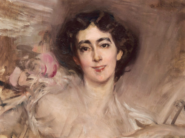 "<span class=""artist""><strong>Giovanni Boldini</strong></span>, <span class=""title""><em>Portrait of Elsie de Wolfe, later Lady Mendl (1865–1950)</em>, 1898</span>"