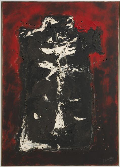 "<span class=""artist""><strong>Lucio Fontana</strong></span>, <span class=""title""><em>Concetto Spaziale</em>, 1954</span>"